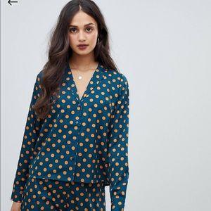 ASOS adorable polka dot blouse